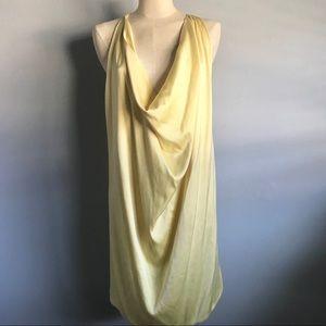 ✨BCBG✨ Yellow Silk Halter Minidress